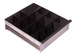 Powers Scientific pharmacy refrigerator drawer with dividers