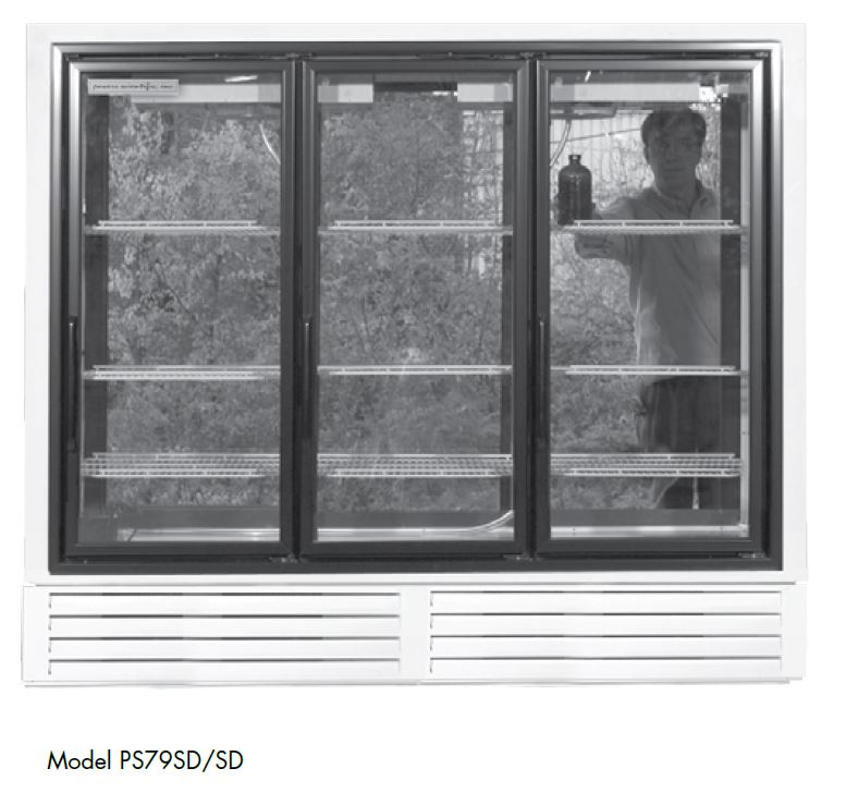 Powers Scientific PS79SDSD Pass-thru Lab Pharmacy Refrigerator